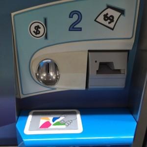 悠遊卡-小銭チャージ。カードはここに置く